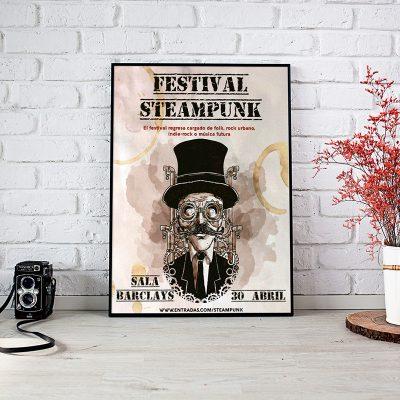 Cartel promocional para festival musical. Cartelería y publicidad