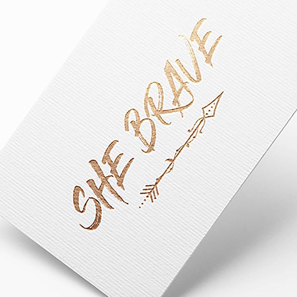 diseño tarjetas de visita stamping dorado