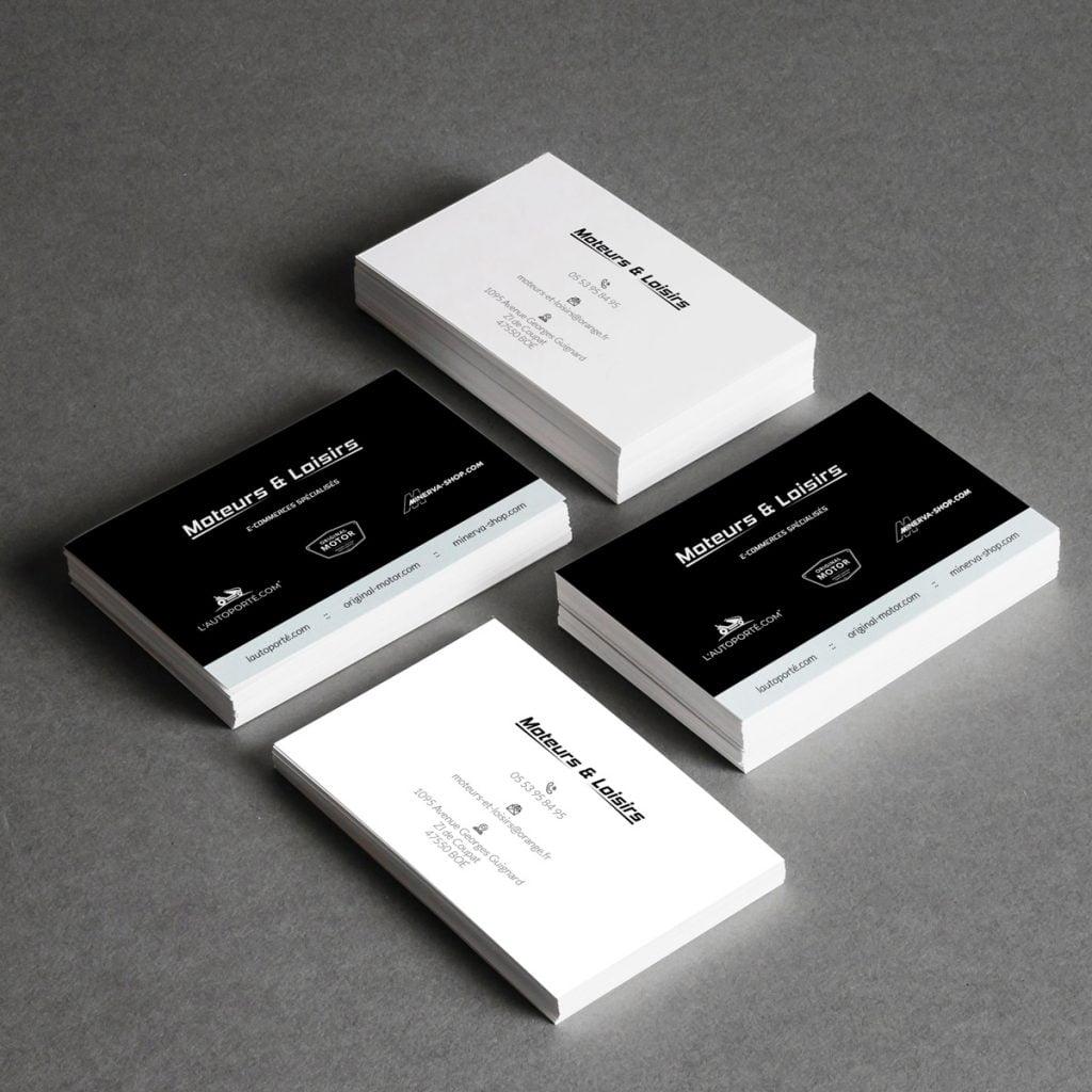 diseño de tarjetas de visita profesionales en blanco y negro